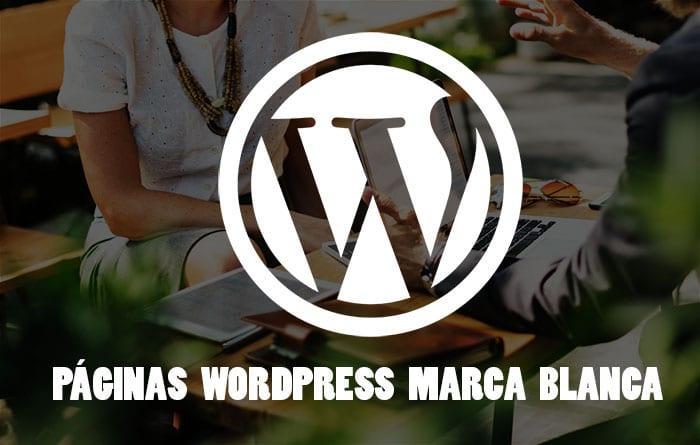 páginas wordpress marca blanca